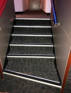 compliant stair nosings luminance contrast