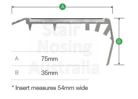 Stair nosing for carpet